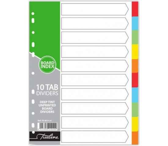 Board Dividers, 10 Tab, Blank