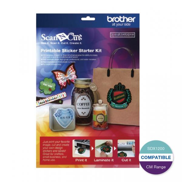 Brother ScanNCut Printable Sticker Starter Kit